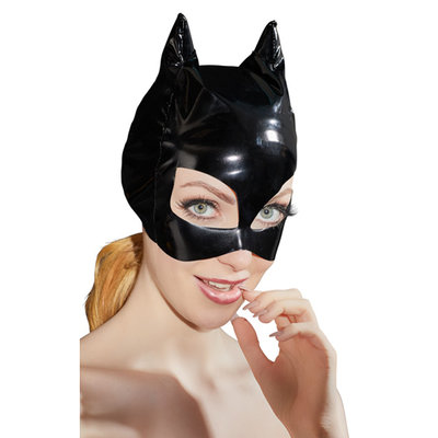 Lak Masker Met Kattenoortjes