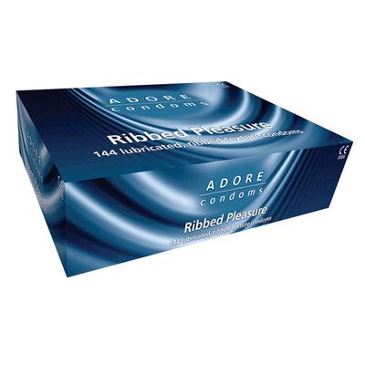 Adore Ribbed condooms 144 stuks