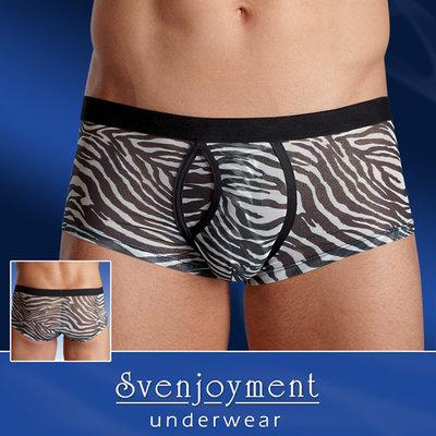 Mannenshort met zebraprint