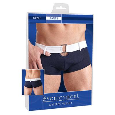 Blauwe boxershort in retrostijl